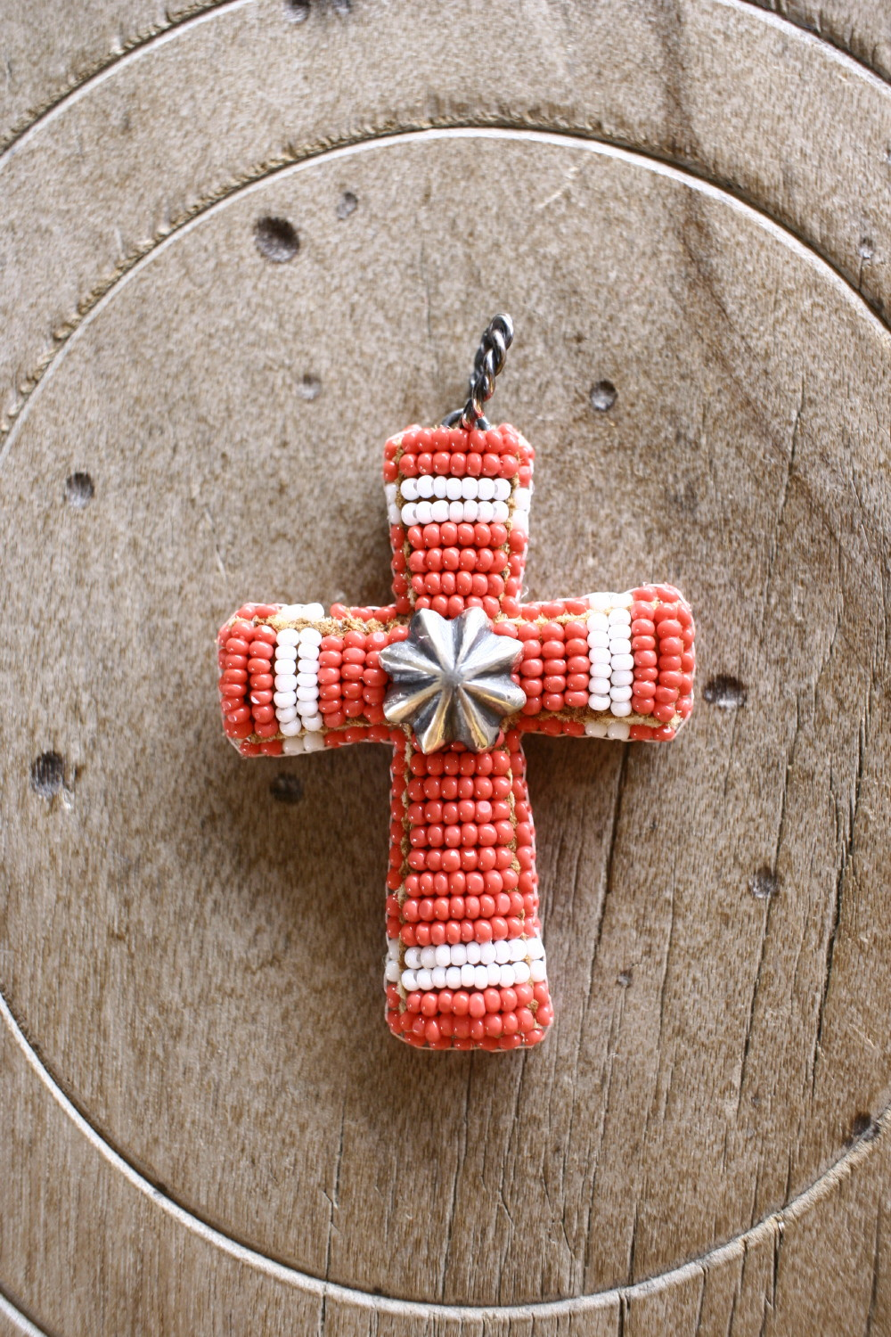 Beaded Cross Pendant Top ペンダントトップ