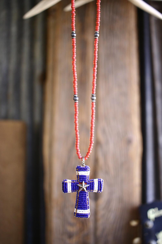 Beaded Cross Pendant Top