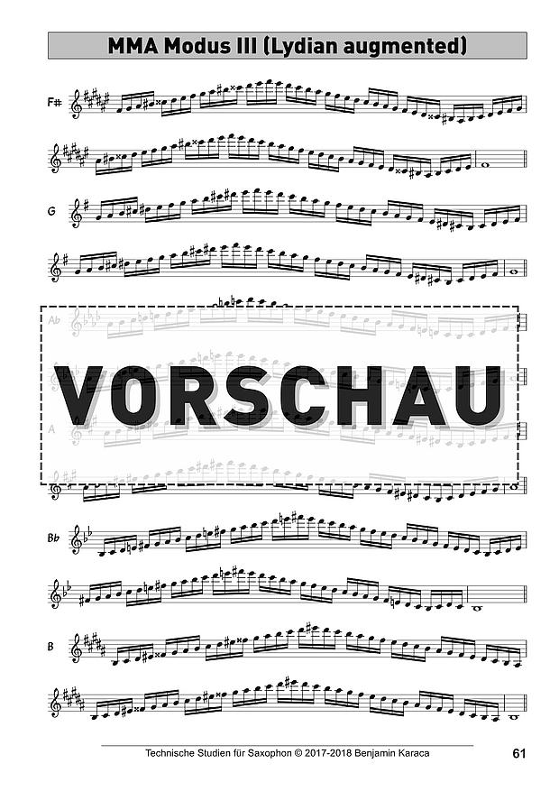 Technische Studien für Saxophon © 2017-2018 Benjamin Karaca