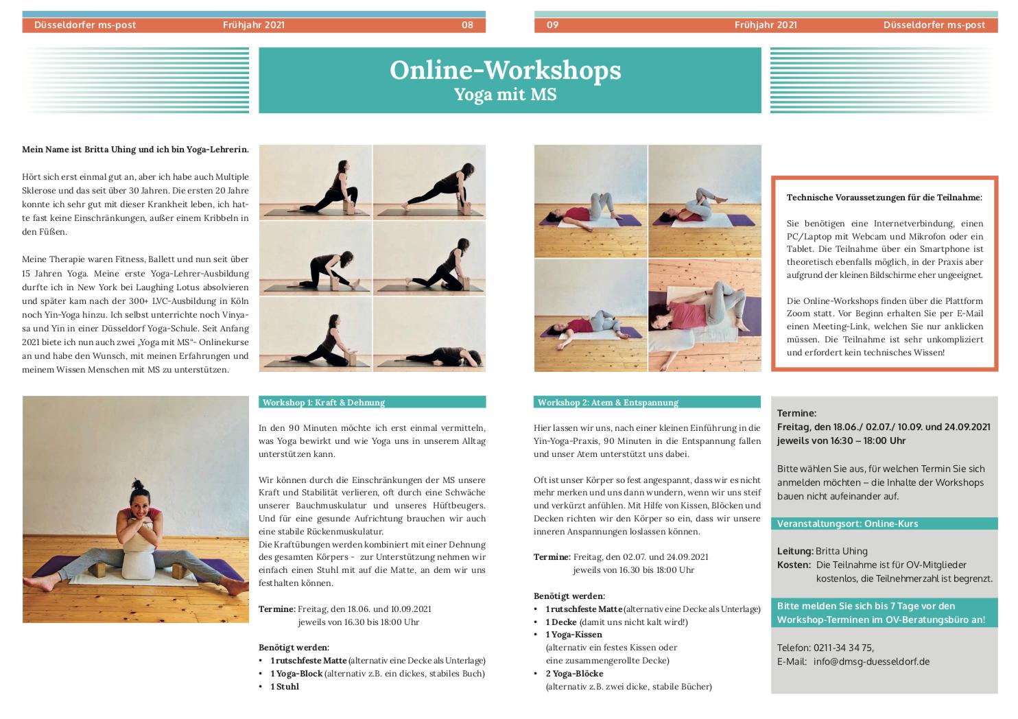 Online-Workshop der DMSG