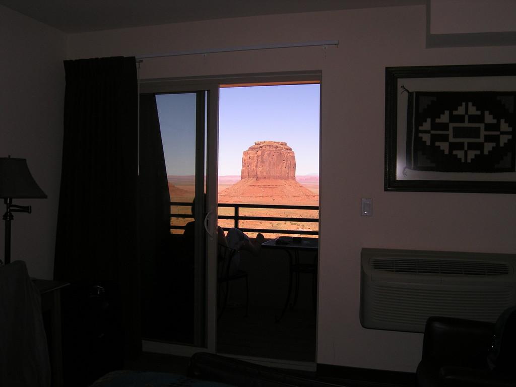 Der Blick aus  dem Zimmer