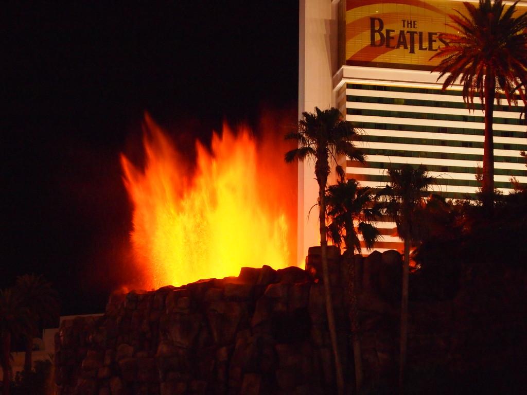Der Vulkanausbruch des Mirage Hotels