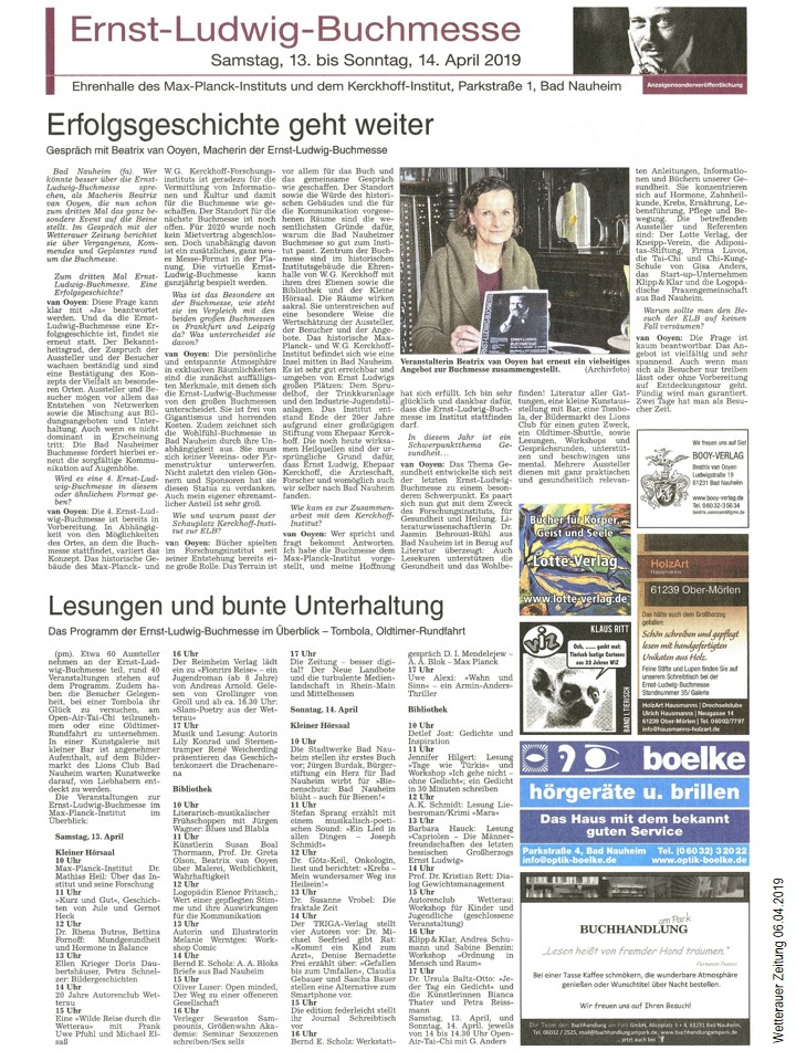 Sonderveröffentlichung vor der dritten Ernst-Ludwig-Buchmesse