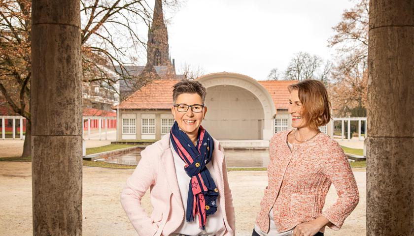 Klipp & Klar - Andrea Schumann (links) und Sabine Benzin, Foto: Jemanda Bad Nauheim