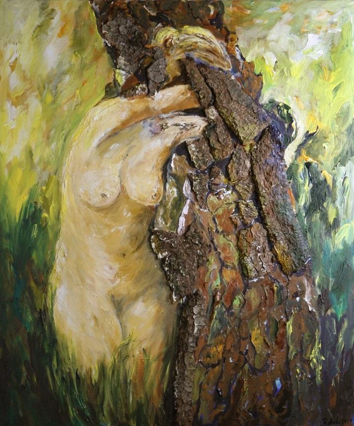 Daphne-Metamorphose 1 von Barbara Meiler, 100 x 120 cm