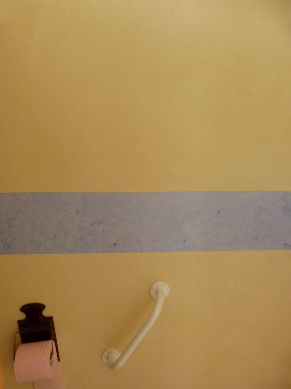 Toilettes - Badigeon et cimaise en stuc