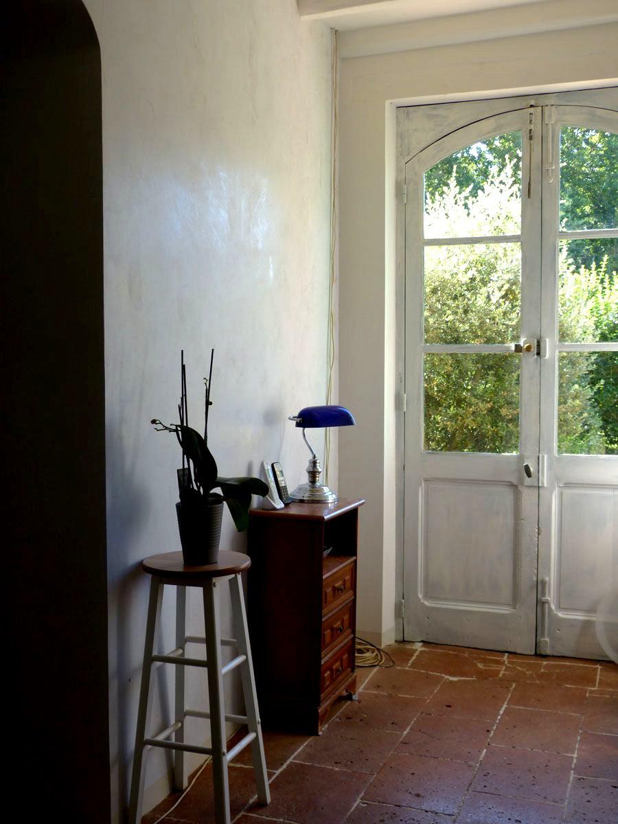Couloir - Stuc chaux gris tourterelle