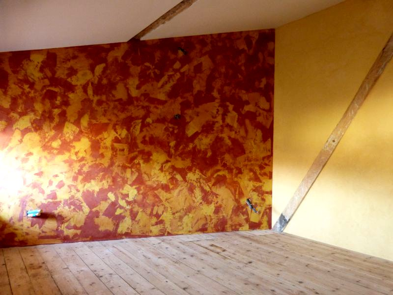 Salon Télé - Stuc tricolore
