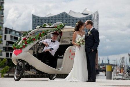 Hamburg, Hochzeit, Rikscha, Hochzeitsrikscha 10
