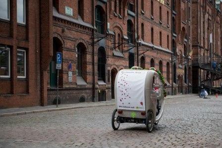 Hamburg, Hochzeit, Rikscha, Hochzeitsrikscha 4
