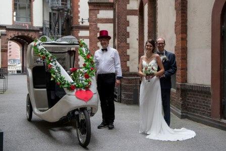 Hamburg, Hochzeit, Rikscha, Hochzeitsrikscha 2