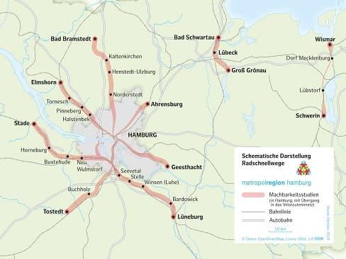 HH: 300 km Radschnellnetz