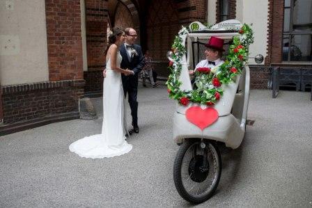 Hamburg, Hochzeit, Rikscha, Hochzeitsrikscha 1