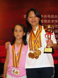 Le campionesse Huihui e Valentina