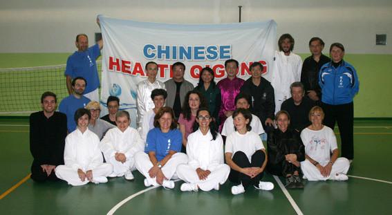 Chinese Health Qigong Association ha fatto visita alla nostra Associazione con lezioni agli allievi della scuola di arti marziali Jing Qi Shen nel 2011