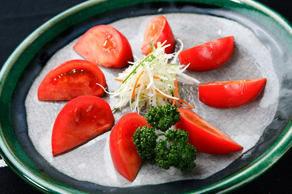 フルーツトマトのサラダ(自家製フレンチドレッシング使用)