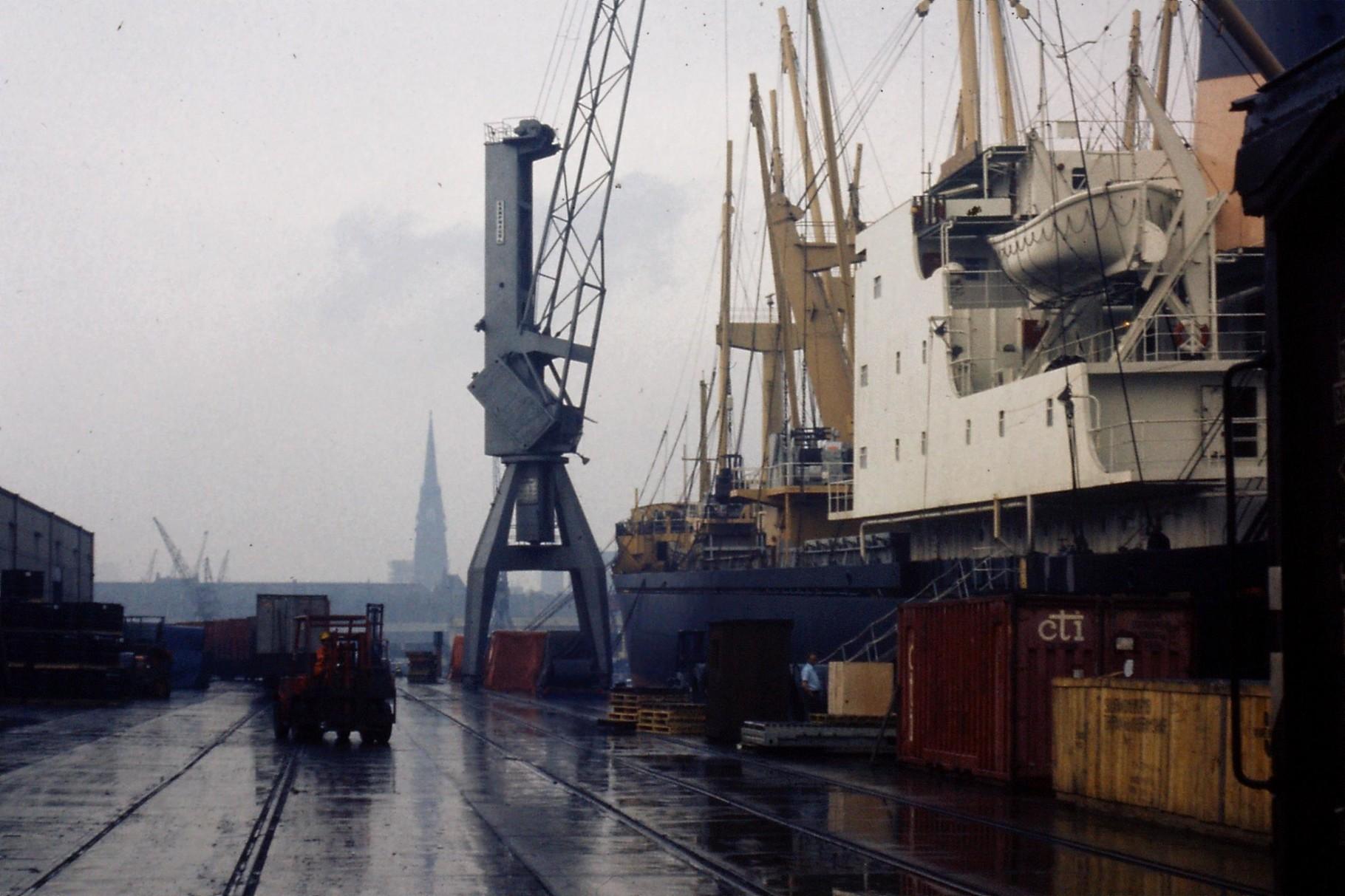 Hafen Hamburg 1975