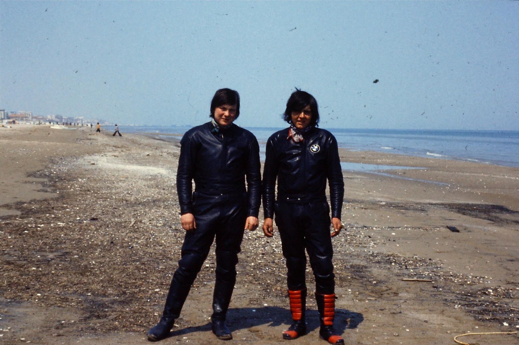 Ich mit HP Gerber Amlikon am Strand von Rimini