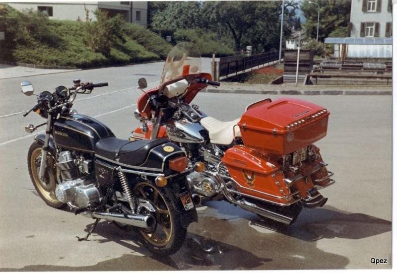 Harley und Honda CB 750 F1 mit Phonos Anlage