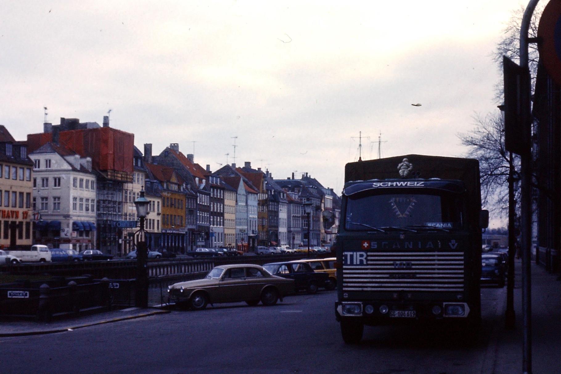 Kopenhagen am Sonntag. Am Nyhafen  in den 70ern