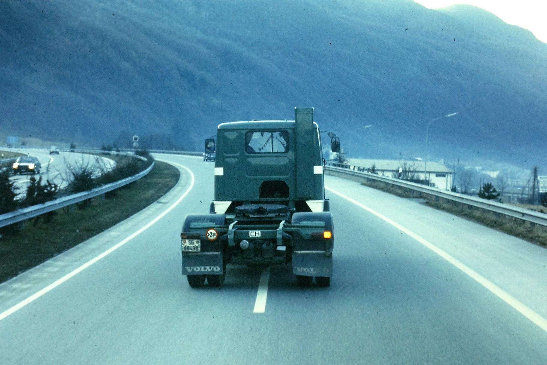 Volvo F88 auf dem Weg nach Melide