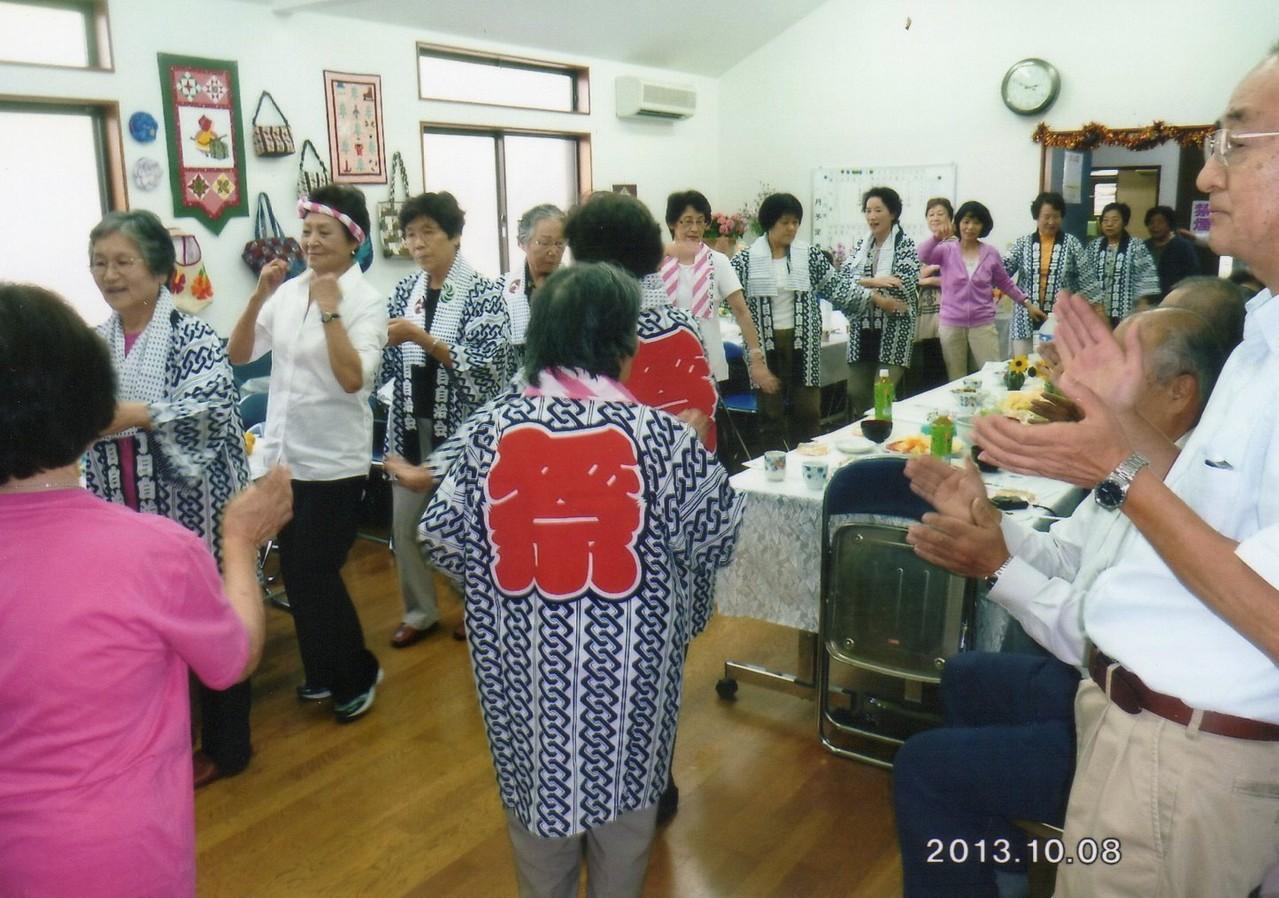 自治会館 盆踊りの練習
