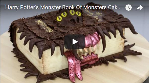 Harry Potter's Monster Book Of Monsters Cake