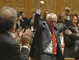 Nach der Abwahl von Christoph Blocher aus dem Bundesrat  am 12. dezember 2007