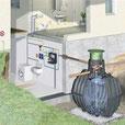 cuve récupération d'eau de pluie installée par Parres TP