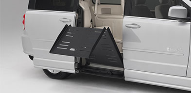 wheelchair van fold out ramp