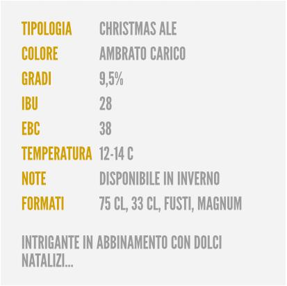 Birrificio del Borgo, caratteristiche della birra 25 dodici, birra artigianale italiana la birra di Natale all'Ombelico Rivoli Torino