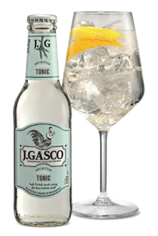 Bottiglia di acqua tonica J Gasco all'Ombelico Rivoli Torino