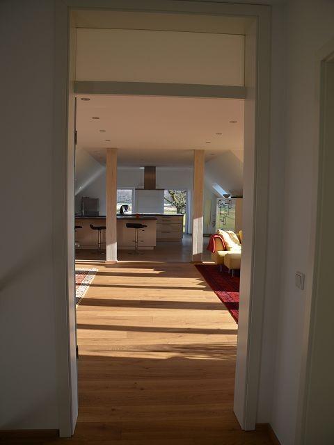 wohnbereich im dachgeschoss nach der fertigstellung