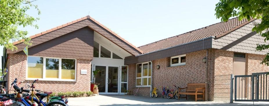 Bild1:Eingang KITA st. Margareta KITA Bockhaus-Odenthal Architekten Münster ,Architektur-individuell |kreativ|energetisch|Architekten AKNW,NRW,germany architects
