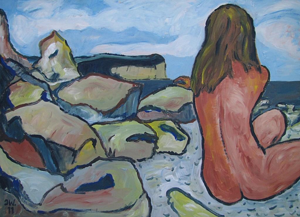 Jeune fille nu, 2011, 50x70cm