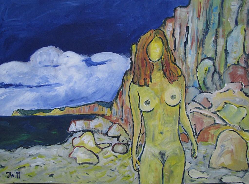Le nu jaunes, 2011, 50x70cm