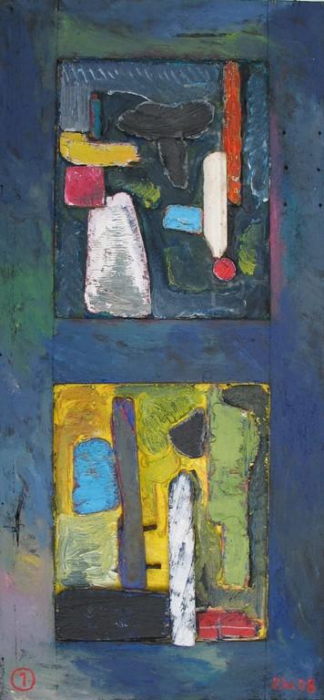 Bretagne 2008, Collage 1, 2008, 34x72cm