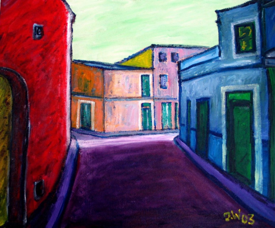 Mallorca, Gasse, 2003, 50x60cm