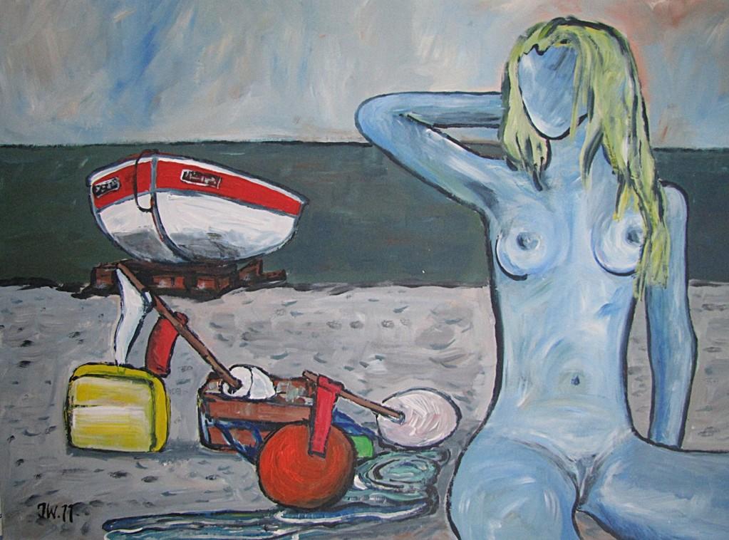 Le nu bleu, 2011, 50x70cm