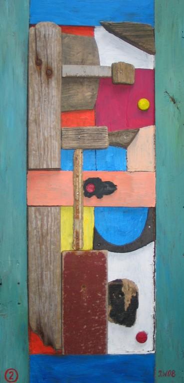 Bretagne 2008, Collage 2, 2008, 34x72cm