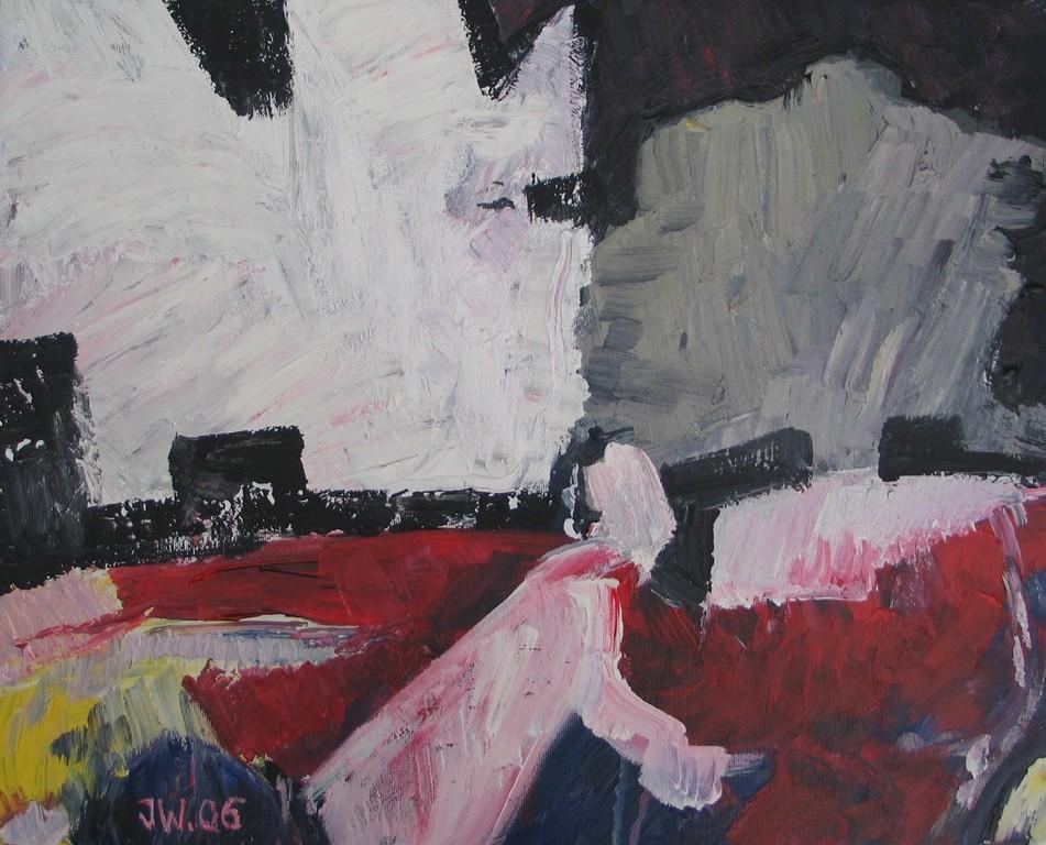 Mörder bei Nacht, 2006, 40x50cm