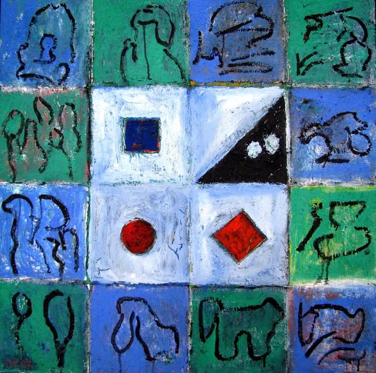 Kunst im Quadrat, 2007, 80x80cm