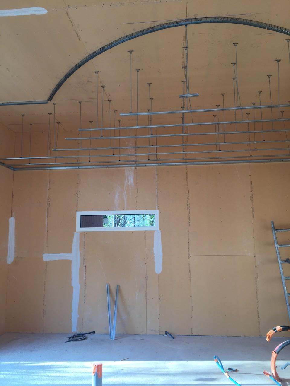 Dubosc plâtrerie faux plafond cintré Arès