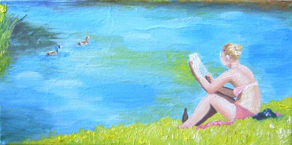 Lesende  20 x 40 cm  03.07.2012