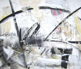 Tanze, spiele der Welt dein Ich 50 x 60 cm  Acrylfarbe auf Leinwand - Anfangsgebot  60 Euro