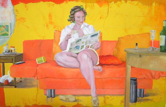Sofasurfing - Acryl auf Leinwand  ca 90 x 150
