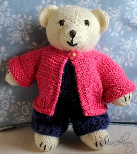 Ich stricke sehr gerne ... so haben bereits mehrere Teddybären kleine Besitzer gefunden