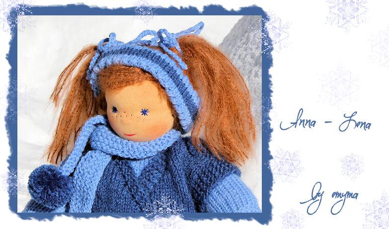 Besonders viel Spass macht das Fotografieren der fertigen Puppe ... hier im Neuschnee