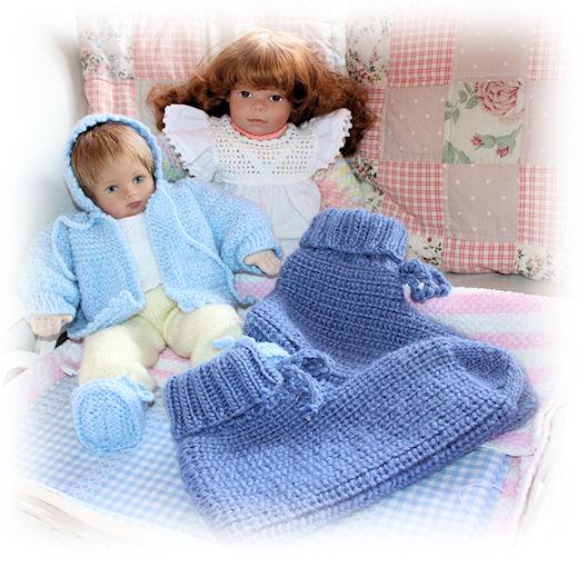 """Gestrickte Bettsocken ... das Strickmuster ist auf meinem Blog zu finden unter """"Bettsocken"""""""