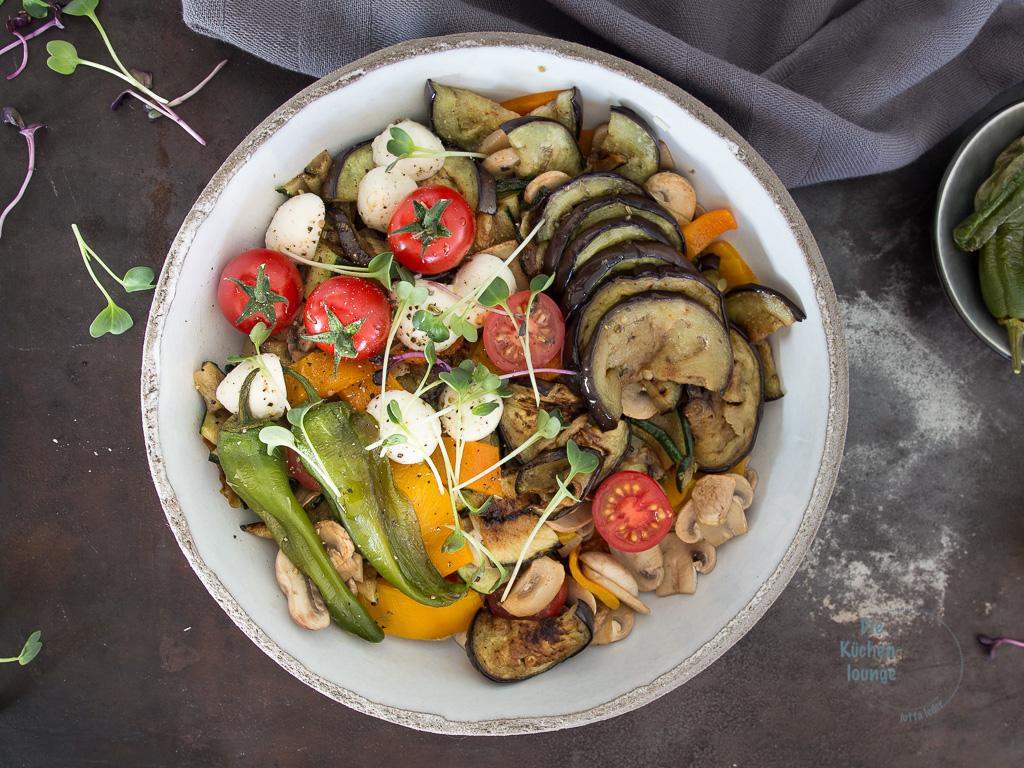 Verdura mista - gegrilltes Gemüse mit Mozzarella